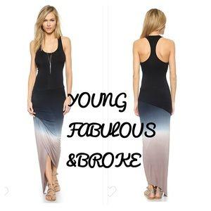 Young Fabulous & Broke | Sassy Maxi Ombré Dress